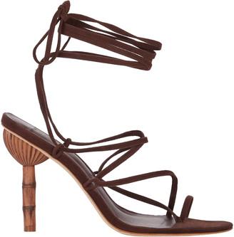 Cult Gaia Adina Bamboo Heel Wrap Sandal