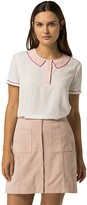 Tommy Hilfiger Peter Pan Short Sleeve Blouse