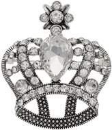 Napier Simulated Crystal Crown Pin