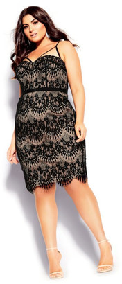 City Chic Brianna Dress - black