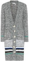 See by Chloe Striped cotton-blend cardigan