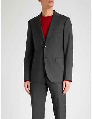 Tiger of Sweden Men's Black Slim-Fit Wool Jacket, Size: 34