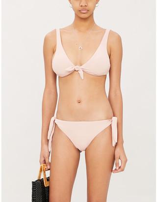 Eberjey Pique Cassidy V-neck bikini top