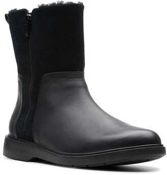 Clarks Unstructured Elda Faux Fur Lined Waterproof Mid Boot