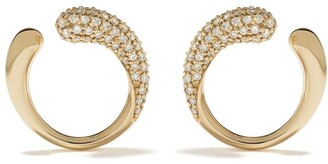 Georg Jensen 18kt yellow gold Mercy diamond earrings
