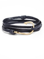 Miansai Men's Hook On Leather Wrap Bracelet