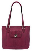 B. Makowsky Luxe Cobra Embossed Leather Tote