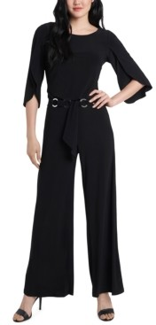 MSK Belted Tulip-Sleeve Jumpsuit