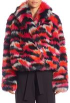 McQ by Alexander McQueen Cropped Faux Fur Jacket