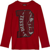 Diesel Printed cotton long-sleeved top 4-6 years