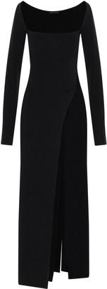Ann Demeulemeester High Slit Square-Neck Dress