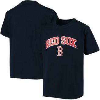Stitches Youth Navy Boston Red Sox Heat Transfer T-Shirt