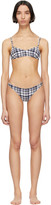 Solid And Striped Solid and Striped Navy and White Puckered Madras The Rachel Bikini