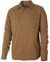 Royal Robbins Men's Brushed Back Twill Long Sleeve Work Shirt - Cocoa Workwear