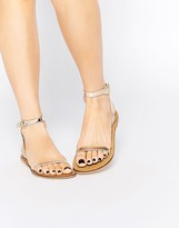 Asos FINLAY Leather Flat Sandals