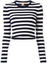 Michael Kors striped jumper - women - Nylon/Spandex/Elastane/Wool - S