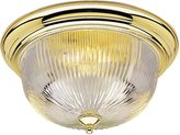 Westinghouse Flush Mount in Polished Brass