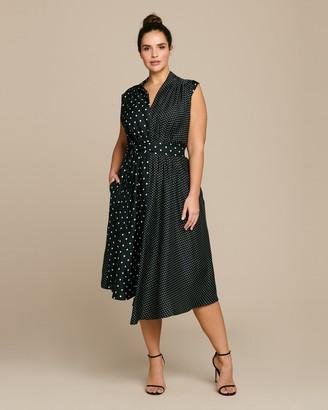 Adam Lippes Short Sleeve Asymmetrical Dress