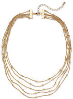 New York & Co. 5-Row Metal and Bead Necklace