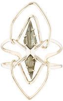 Alexis Bittar Quartz & Labradorite Overlapping Cuff Bracelet