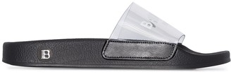 Balmain Logo-Print Slide Sandals