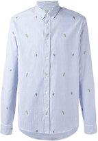 Kenzo striped badge button down shirt - men - Cotton - M