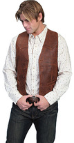 Scully Men's Lambskin Button Front Vest 503-60 Long