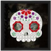 PTM Images Purple & Red Floral Skull Frame Print
