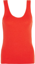 Equipment Miller Ribbed Cotton, Silk And Cashmere-blend Tank - Orange
