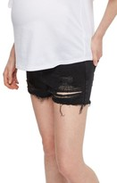 Topshop Women's Ripped Maternity Shorts
