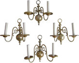One Kings Lane Vintage French Brass Sconces, Set of 4
