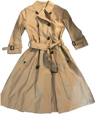 Aquascutum London Camel Silk Trench Coat for Women