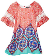 My Michelle mymichelle Printed Bell Sleeve Dress (Big Girls)