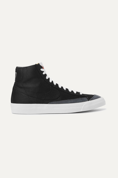 the latest c7129 059b4 Blazer Mid '77 Suede-trimmed Canvas High-top Sneakers - Black