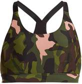 The Upside Crystal Camo Lottie Crop performance bra