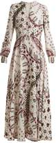 Valentino Leopard-print crepe dress