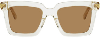 Bottega Veneta Beige Square Sunglasses