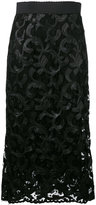 Dolce & Gabbana lace midi skirt - women - Silk/Cotton/Nylon/Viscose - 46