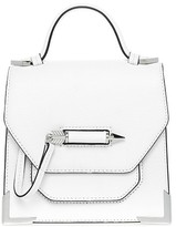 Mackage Rubie Structured Leather Shoulder Bag In White