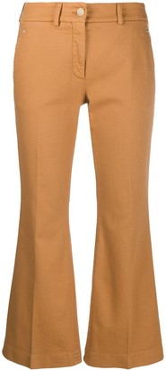 Incotex Flared Cropped Trousers