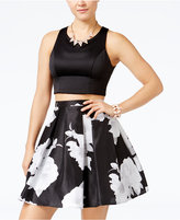 Sequin Hearts Juniors' 2-Pc. Floral-Print A-Line Dress
