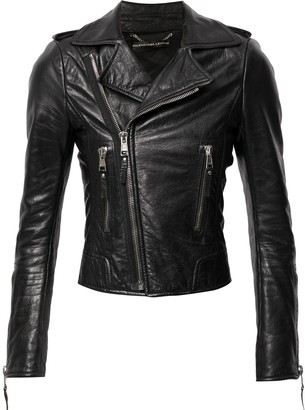 Balenciaga Pre-Owned Zipped Cuffs Biker Jacket