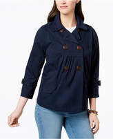 Style&Co. Style & Co Double-Breast Swing Jacket, Created for Macy's