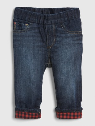 Gap Baby Flannel-Lined Straight Jeans
