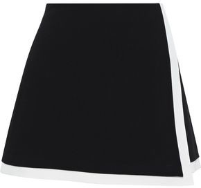Alice + Olivia Wrap-effect Cady Mini Skirt