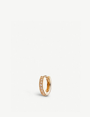 Selfridges Diamond 9ct gold huggie hoop