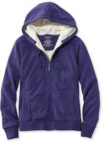 L.L. Bean Sweater-Trimmed Sherpa-Lined Hoodie