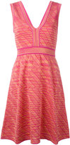 M Missoni plunge neck patterned dress - women - Cotton/Polyamide/Viscose/Metallic Fibre - 44