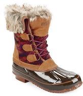 Khombu Julliard Faux Fur Accented Duck Boots