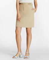 Brooks Brothers Stretch Cotton Twill Pencil Skirt